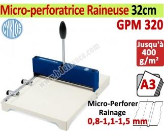 Micro-perforatrice Raineuse : 32cm -Traçage Du Rainage 0,8-1,1-1,5 mm GPM320 CYKLOS Les Raineuses Manuelles