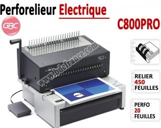 Perforelieur Electrique 20 Pages GBC - Anneaux Plastiques,Relier 450 feuilles C800PRO GBC Perforelieuses électrique anneaux p...