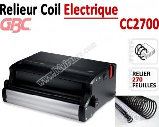 Relieur Coil Electrique GBC -  Relier jusqu'a 270 Feuilles CC2700 GBC C - Relieur professionnel
