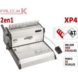 Perforelieur Electrique 25 feuilles A4 - Anneaux Plastique & 4 Trous Classeur XP4 FALCONK Machine à relier par anneaux