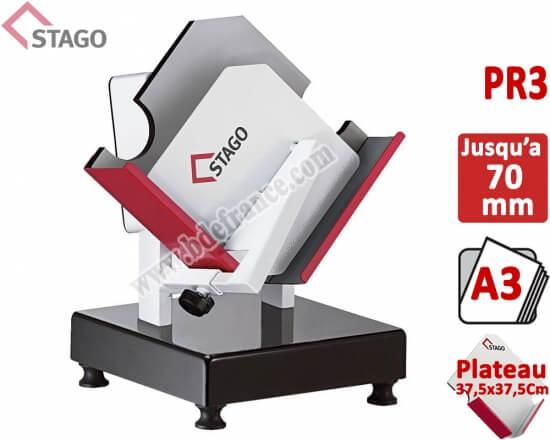 Taqueuse électromagnétique STAGO - Capacité : 70 mm FORMAT A3 PR3 STAGO N° 8 Taqueuse