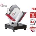 Taqueuse électromagnétique STAGO - Capacité : 70 mm FORMAT A3