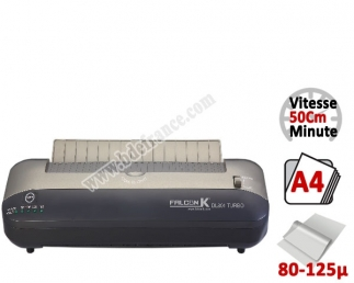 Plastifieuse à Pochettes A4, 50 cm  - Plastifier : 80 /100/125µ Prêt 1 minute DL901D FALCONK N°1 Plastifieuse à pochette de b...