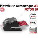 Plastifieuse A3 FOTON 30 - Entièrement automatique 75-125µ