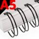 Anneaux métalliques 3:1 BRONZE FALCONK N° 3 - Anneaux métalliques A4 Bronze & A5