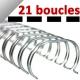 Anneaux Métal IBIWIRE  GBC N°3B - Anneaux métalliques IBIWIRE