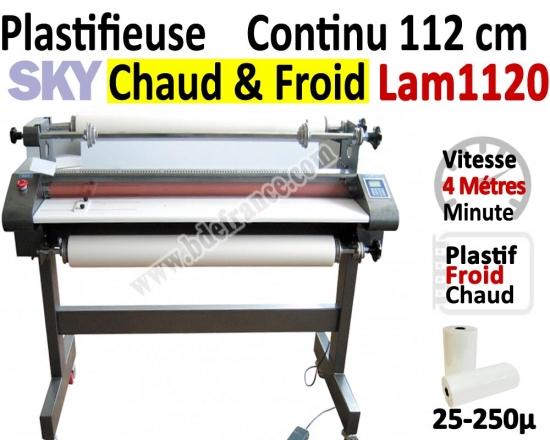 Plastifieuse en Continu 112 cm / A0+ - Stand inclus, Vitesse : 400 cm/mn LAM112 SKY Accueil