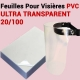 Couverture Transparent  FALCONK 12- Couverture Transparent PVC,Mat A4 & A3