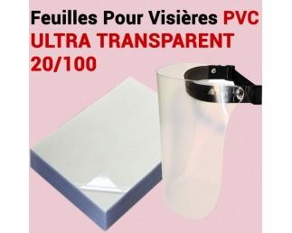 Feuilles Pour Visières Transparent - Le paquet de 100 feuilles A4 T20VISIERE FALCONK Consommables