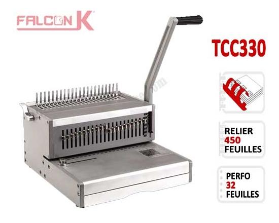 Perforelieur Manuel 30 Pages A4 - Anneaux Plastiques,Relier 450 feuilles TCC330 FALCONK Machine à relier par anneaux