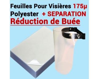 Feuilles Pour Visières 175µ transparent - Réduction de Buée Le paquet de 100 feuilles SUPPRO FALCONK A - Consommable Pour Rel...