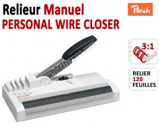 Relieur Manuel Reliure Métal 3:1 -Relier jusqu'au 120 feuilles. PERWICL FALCONK C - Relieur professionnel
