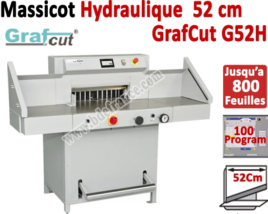 Longueur Coupe Hydraulique: 520 mm - Capacité de coupe: 80 mm GRAFCUT G52H MOHR Massicots hydrauliques