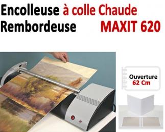 Encolleuse & Rembordeuse à colle - Ouverture 62 Cm MAXIT620 BDE Machine à relier par Thermoreliure