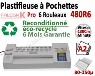 Plastifieuse à Pochettes A2 Pro - 6 Rouleaux reconditionné 480R6OCCA FALCONK Machine à Plastifier