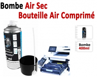 Bombe Air Sec 400ml - Dépoussiérant en Spray BOMBE AIR  N°2 Thermorelieur par bandes thermo-collantes