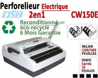 Perforelieur Electrique 15 feuilles A4 - Anneaux Plastique & 3:1 Métalliques CW150EOCC DSB Machine à relier par anneaux