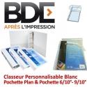 Classeur Personnalisable Blanc - Pochette Plan & pochette 6/10°- 9/10°