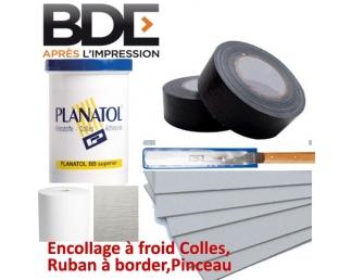 Encollage à froid Colles,Ruban à border,Pinceau  BDE C - Consommable Pour Reliure Thermique