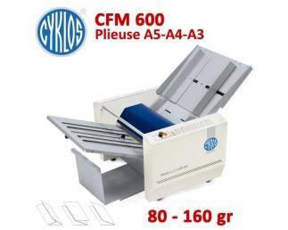 Plieuse à friction Manuelle A5-A4-A3 - Papier Maxi 80 à 160 g/m2 CFM600 CYKLOS Plieuse à friction