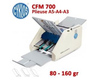 Plieuse à friction Manuelle A5-A4-A3 - Papier Maxi 80 à 160 g/m2 CFM700 CYKLOS Plieuse à friction