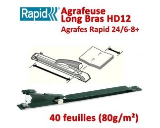 Agrafeuse Manuelle De Livrets A3 - Jusqu'à 40 feuilles 80gr HD12  Plieuse à friction