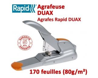 Agrafe jusqu'à 170 feuilles - 2-170 feuilles avec une seule Agrafe DUAX RAPID Plieuse à friction