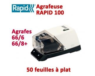 Agrafeuse à plat électrique - 2-50 feuilles RAPID100  Plieuse à friction