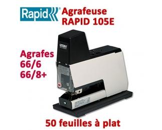 Agrafeuse à plat électrique - 2-50 feuilles RAPID105E  Plieuse à friction