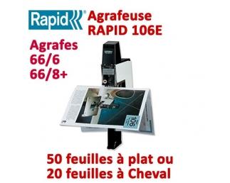 Agrafeuse à plat électrique - A plat 50 feuilles à Cheval 20 feuilles RAPID106  Plieuse à friction