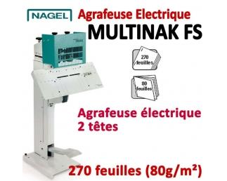 Agrafeuse à plat électrique - A plat 270 feuilles à Cheval 80 feuilles MULTINAK FS BS  Plieuse à friction