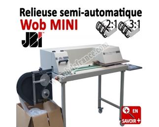Relieuse automatique 3:1/2:1 Metal - Relier jusqu'au 250 feuilles (1-1/4) Wob MINI JBI N°5 Machines à relier professionnelles