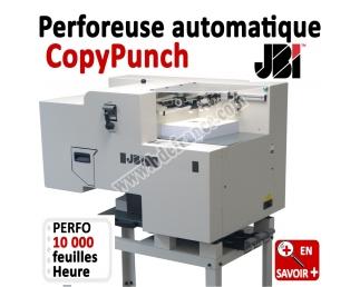 Perforation automatique A4 - 10,000 feuilles/heure CopyPunch JBI Machine à relier par anneaux