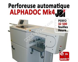 Perforation automatique A4 - 32 500 feuilles/heure ALPHADOC JBI Machine à relier par anneaux