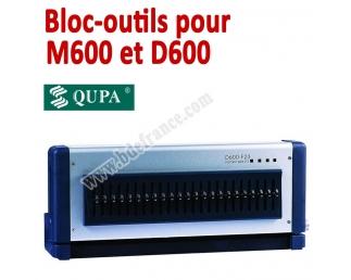 Bloc-outils pour Perforateur D600/M600  BDE Machine à relier par anneaux