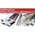 B - Multifonctions Reliure Plastiques + métalliques 3:1