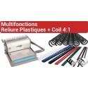 C - Multifonctions  Reliure Plastiques + Coil 4:1