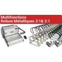 D - Multifonctions  Reliure Métalliques 3:1 & 2:1