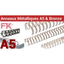 3 - Anneaux métalliques A4 Bronze & A5