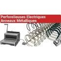 Perforelieuses électriques anneaux métalliques