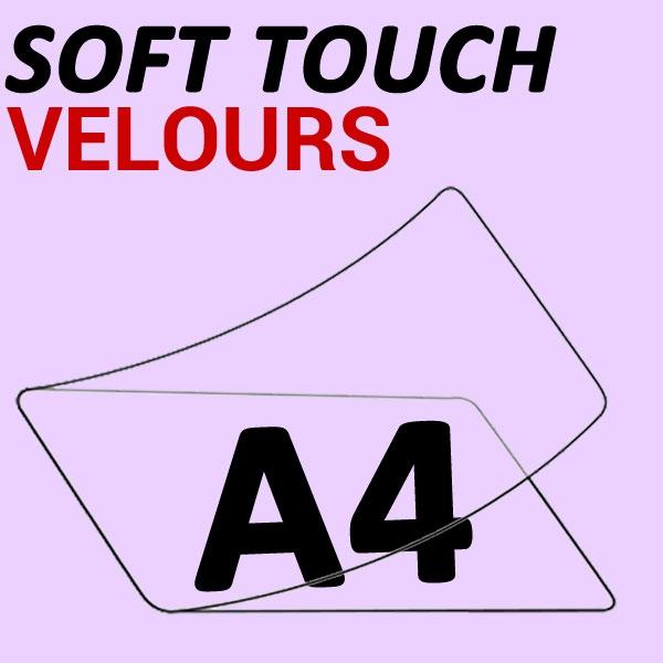 A4 (216mmx303mm) 2 Faces Soft Touch Velours  #Boite de 100pièces