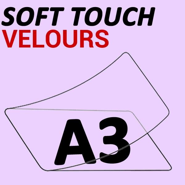A3 (303mm x 426mm)  2 Faces Soft Touch Velours  #Boite de 100pièces