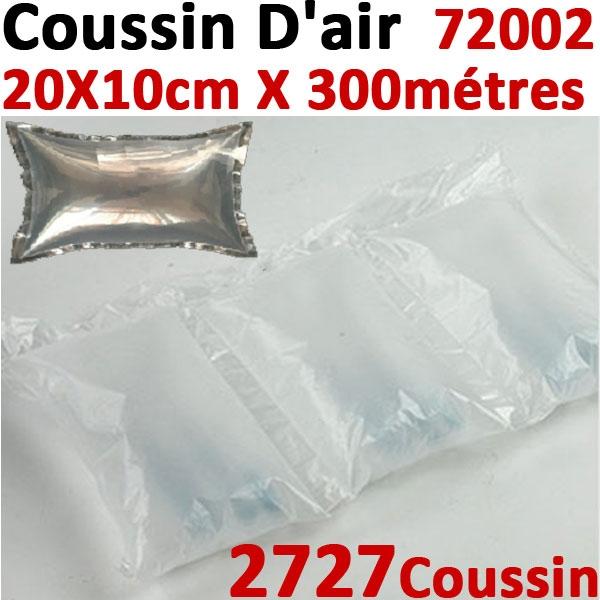 @Coussins d air 20X11cmX300mètres prédécoupé # 2727 Coussins 20µ polyéthylène # Pour Wiair-1000 & 3000#Réf :72002