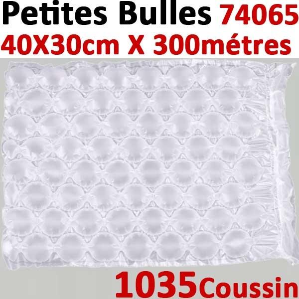 Petites bulles d air 40X29cmX300mètres prédécoupés#1035 Coussins 20µ polyéthylène#Pour Wiair-1000 & 3000#Réf :74005+