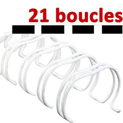 21 Boucles# Blanc