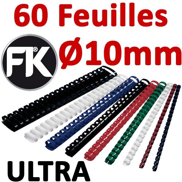 Marque FALCONK ULTRA  #Ø 10mm de 41 à 60 feuilles #boite de 100pcs