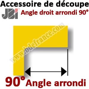 Accessoire de découpe 90° avec angle arrondi