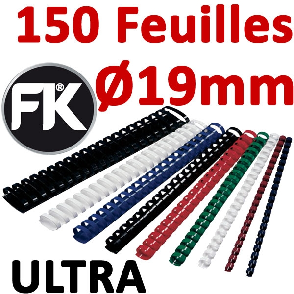 Marque ULTRA FALCONK # Ø 19mm de 121 à 150 feuilles #boite de 100pcs