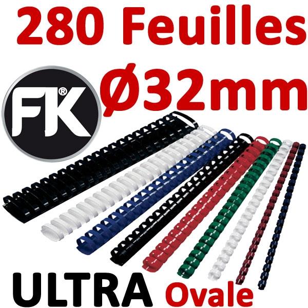 Marque ULTRA FALCONK # Ø 32mm de 241 à 280 feuilles, ovale #boite de 50pcs