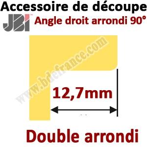 Accessoire de découpe 90° avec angle double arrondi  profondeur 12,7mm